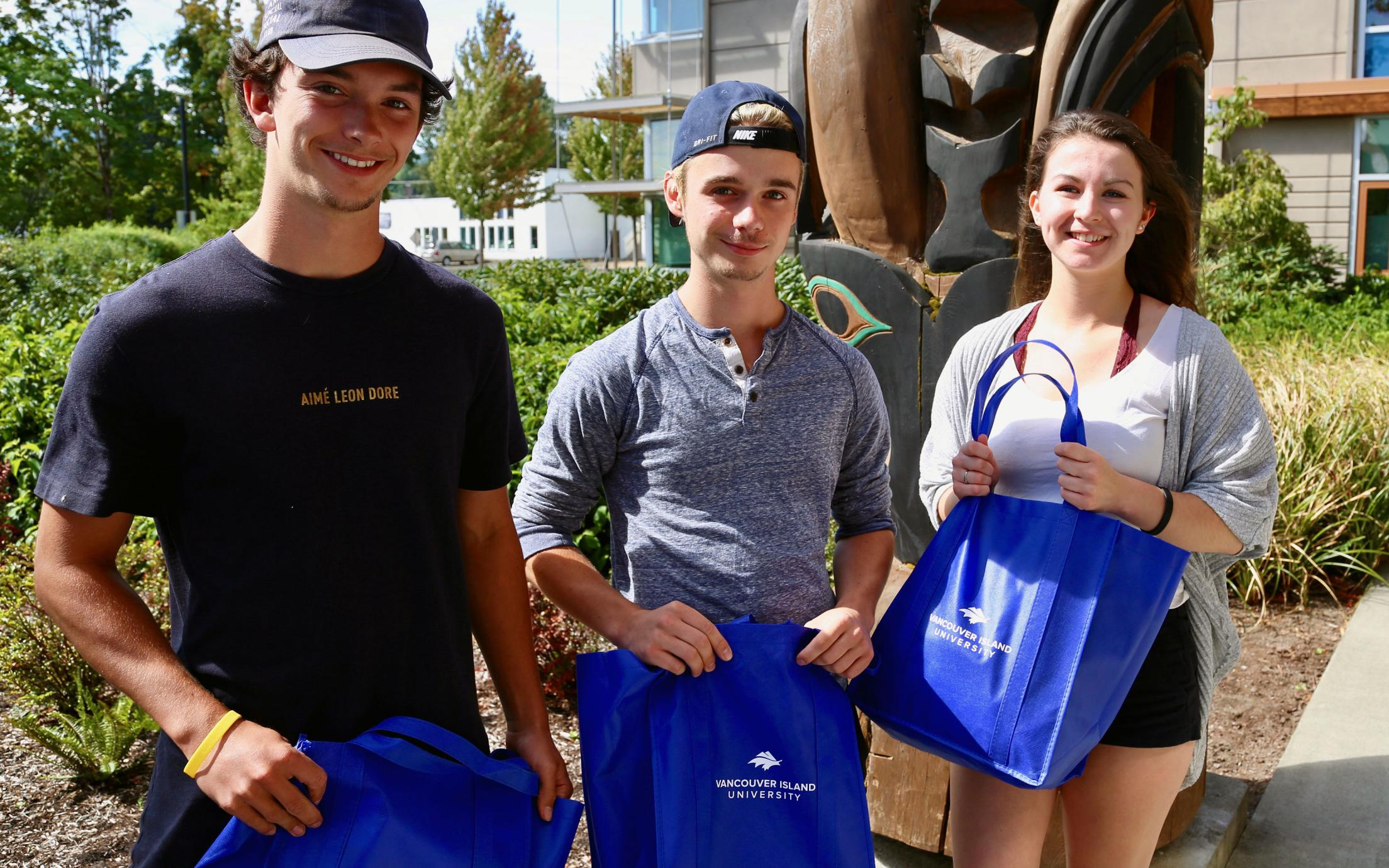 VIU Cowichan Campus Students with Book Supplies