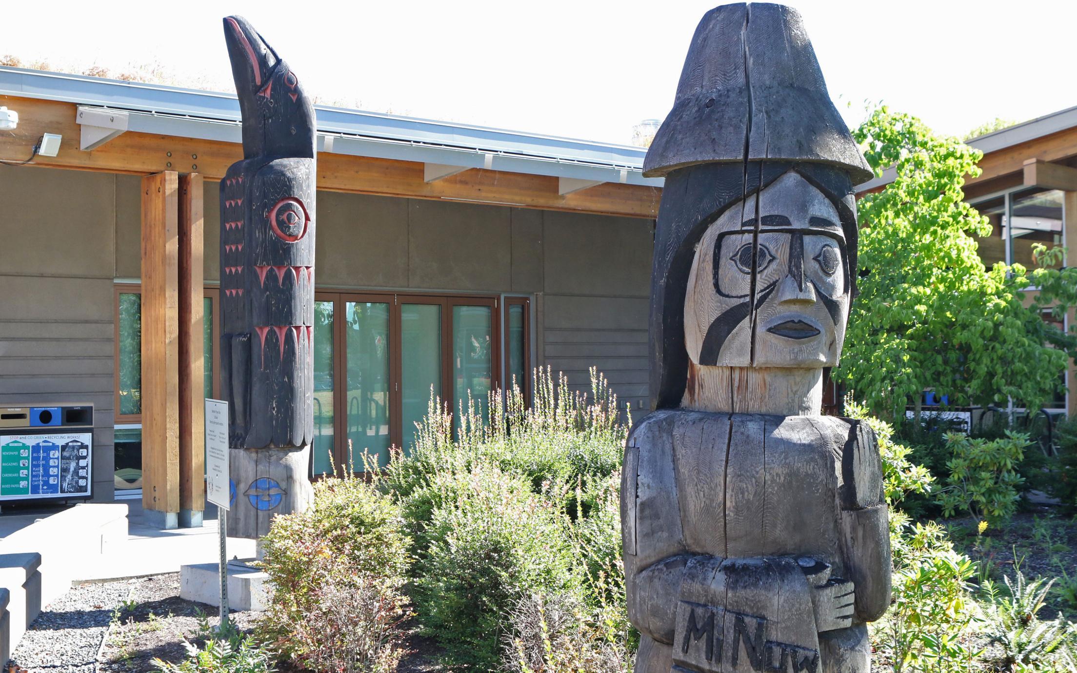 VIU Cowichan Campus Totem Poles